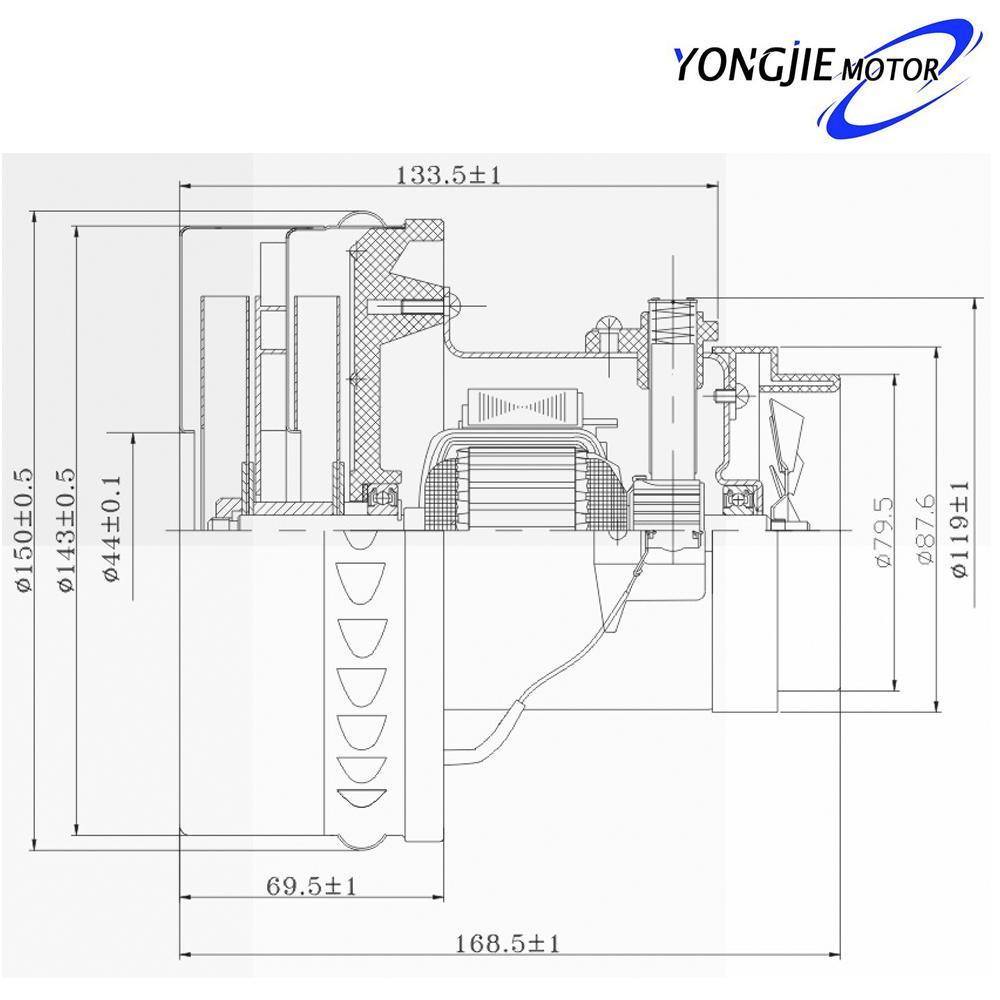 企业产品 v4j-dwd-p72 电议 吸尘器电机制造干湿两用吸尘器电机